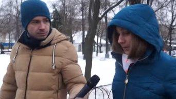 Киевляне об особом статусе Донбасса. Видео