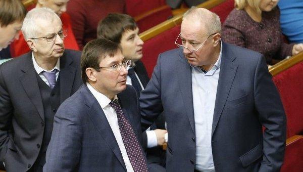Юрий Луценко и Виктор Чумак в зале Верховной Рады