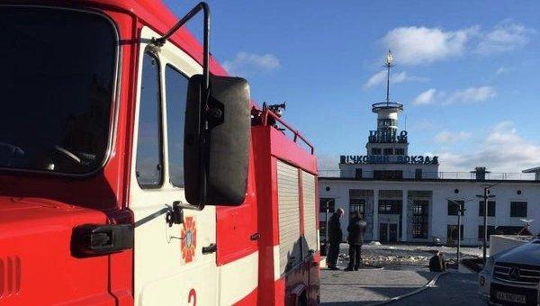 ВКиеве произошел пожар наРечном вокзале— Киевпастранс