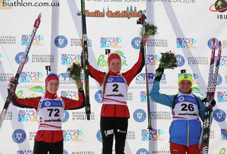 Украинка - на пьедестале чемпионата мира по биатлону среди юниоров