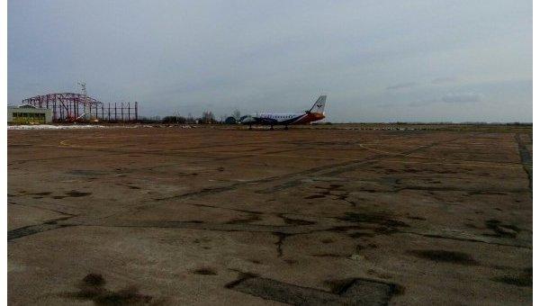 В Житомире аэропорт принял первый самолет после 4 лет перерыва