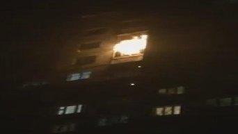 Пожар в многоэтажке в Киеве