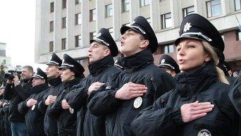Присяга патрульной полиции в Ивано-Франковске