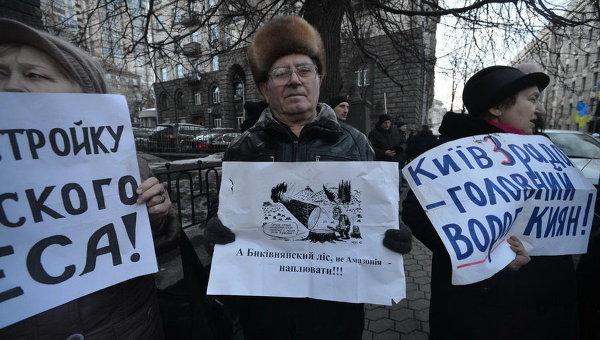 Незаконная застройка в Киеве
