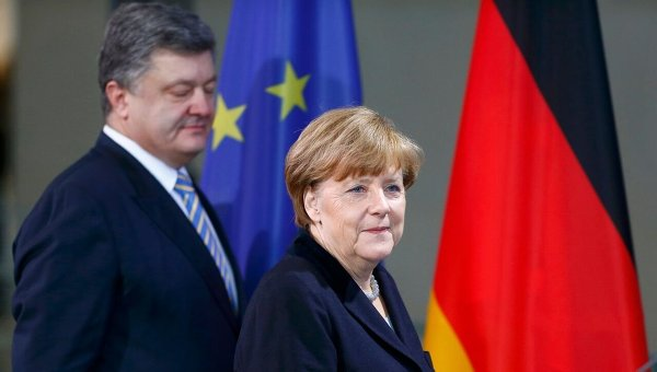 Совместный брифинг Петра Порошенко и Ангелы Меркель в Берлине