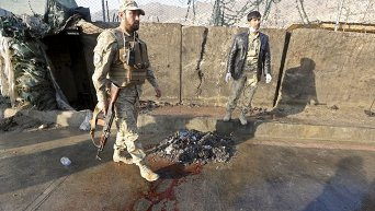 На месте кровавого теракта у парламента в Кабуле