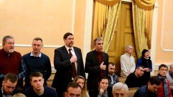 Признание России страной-агрессором Одесским горсоветом. Видео
