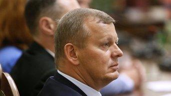 Сергей Клюев на заседании регламентного комитета ВР по рассмотрению вопроса о снятии с него депутатской неприкосновенности