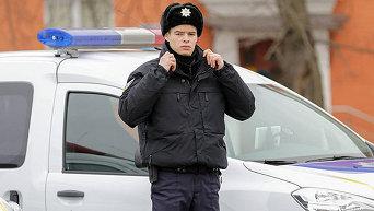Украинский полицейский. Архивное фото
