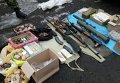 Схрон с оружием и боеприпасами в Старобельском районе Луганской области