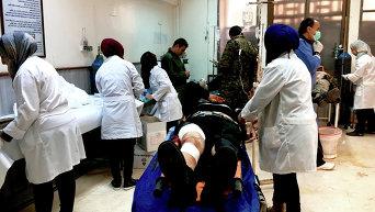 Последствия обстрелов сирийского города Дераа