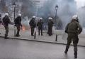 В Афинах анархисты забросали полицию коктейлями Молотова. Видео