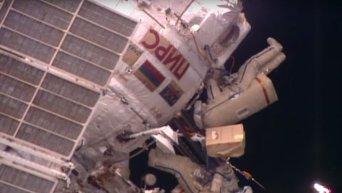 Выход в открытый космос российских космонавтов на МКС. Видео