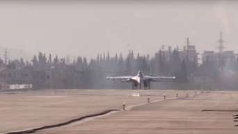 Новейший истребитель Су-35C на российской базе в Сирии. Видео