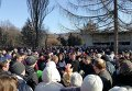 Киевляне протестуют против скандальной стройки на Борщаговке