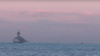 Российские корабли вышли в Черное и Каспийское моря на учениях. Видео