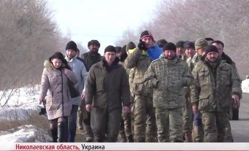 Бунт бойцов ВСУ в Николаеве. Видео