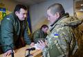 Бойцы 53-й отдельной механизированной бригады в здании Николаевской ОГА