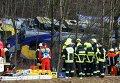 На месте столкновения поездов в Германии
