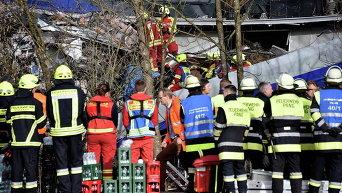 Столкновение поездов в Баварии