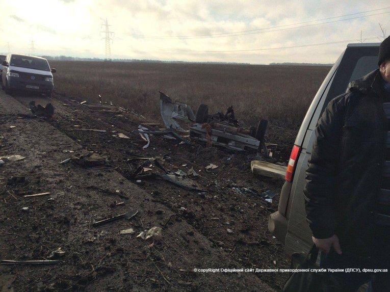 Подрыв автобуса под Марьинкой