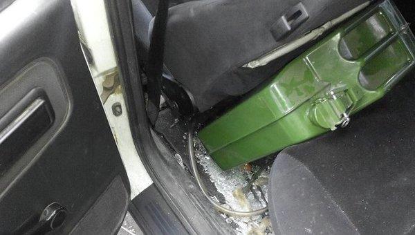 Разбитый автомобиль Павла Бригинца в Киеве