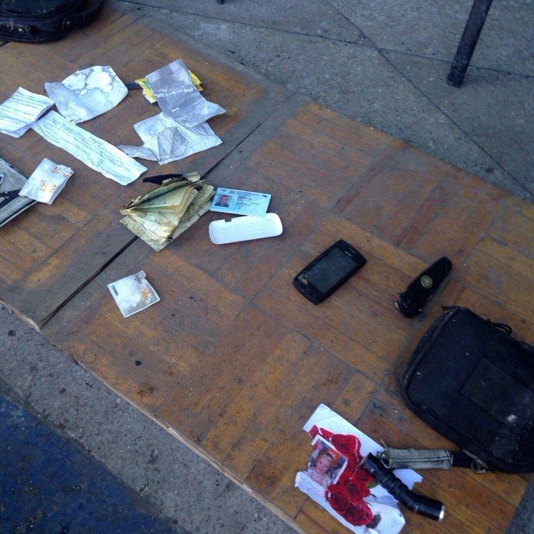 Документы, найденные на месте подрыва автобуса возле Марьинки