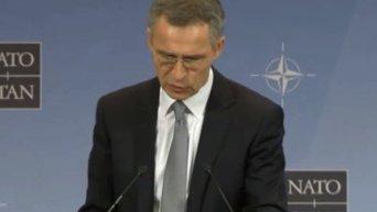 Пресс-конференция генсека НАТО в Брюсселе. Видео