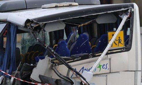 ДТП во Франции со школьным автобусом