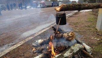 Блокирование российских фур в Житомирской области