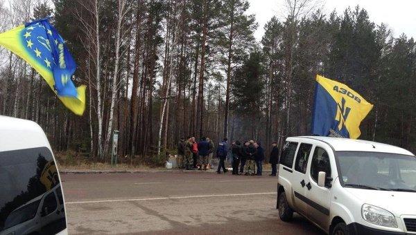 Блокирование российских фур в Житомирской области. Архивное фото