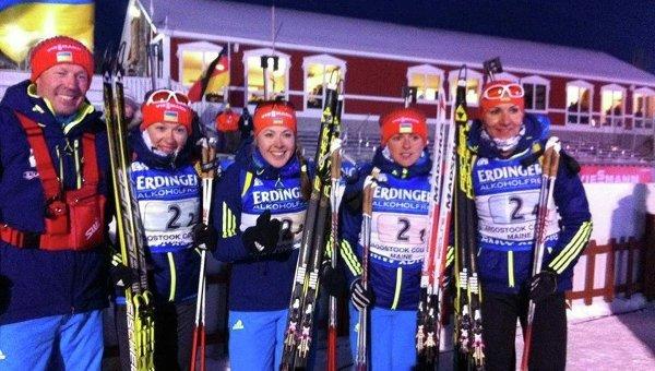 Женская сборная Украины по биатлону на этапе Кубка мира в США