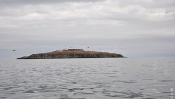 ВМС Украины на острове Змеиный. Архивное фото