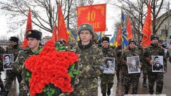 Шествие и митинг в Николаеве по случаю годовщины вывода войск из Афганистана