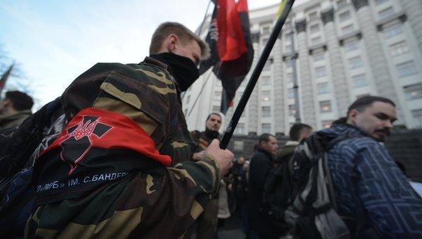Акция Правого сектора в Киеве. Архивное фото