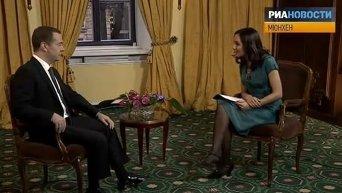 Интервью Медведева: война в Сирии и статус Крыма. Видео