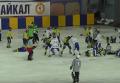 Массовая драка сборных Украины и Монголии по хоккею с мячом на матче ЧМ. Видео