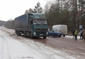 Водитель из РФ о блокаде фур и разговоре с Правым сектором Украине. Видео