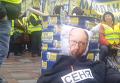 Жертвоприношение под Радой: активисты соорудили чучело Яценюка