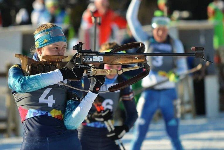Биатлонистка Кристина Дмитренко завоевала золото на Юношеских Олимпийских играх гонке преследования.