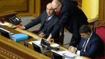 Заседание Верховной Рады. Отчет Кабмина