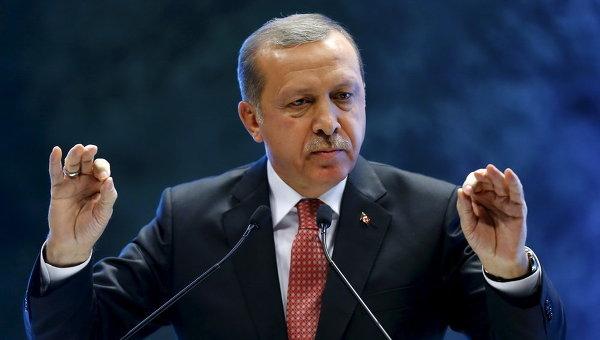 Президент Турции Тайип Эрдоган выступил на конференции в Анкаре, Турция