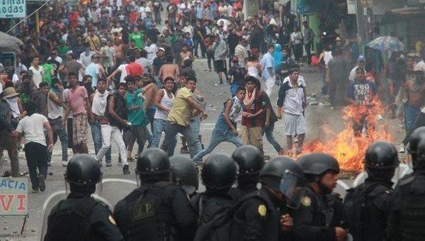 Протесты в Гватемале