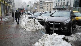 Центр Киева. Неправильная парковка.