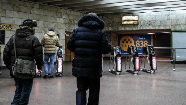 Вкиевском метро женщина бросилась под поезд