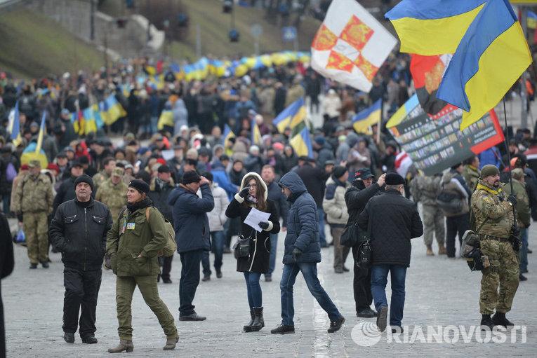 В столице прошла панихида по погибшим на Евромайдане