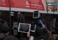 Погром Альфа-банка в Киеве. Видео