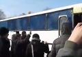 В Запорожье защитников памятника Ленина забросали яйцами и облили зеленкой. Видео