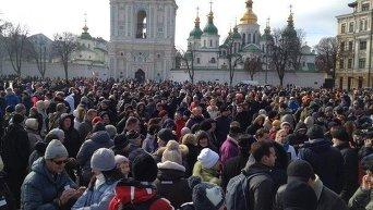 Акция в поддержку патрульной полиции в Киеве
