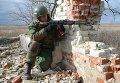 Бойцы ополчения ДНР на линии разграничения